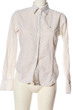 Gant Langarmhemd creme-weiß Streifenmuster Casual-Look