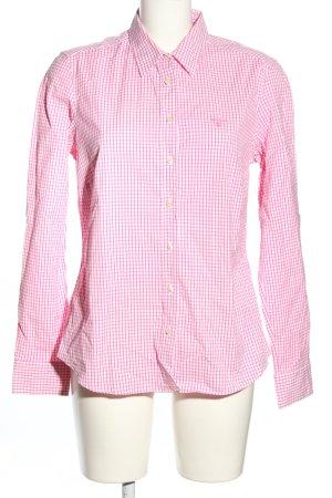 Gant Langarmhemd pink-weiß Allover-Druck Casual-Look