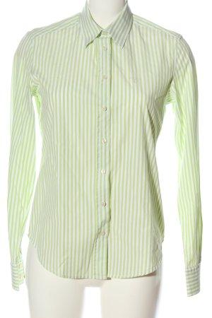 Gant Langarmhemd weiß-grün Streifenmuster Business-Look