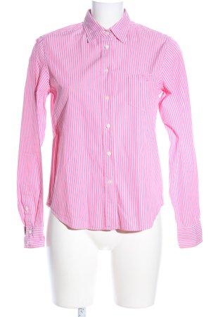 Gant Camicia a maniche lunghe rosa-bianco motivo a righe stile professionale