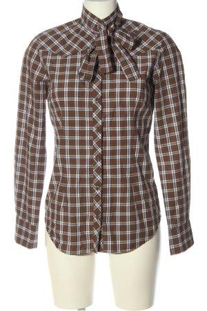 Gant Langarmhemd braun-weiß Allover-Druck Casual-Look