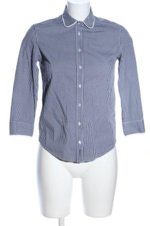 Gant Langarmhemd schwarz-weiß Karomuster Business-Look