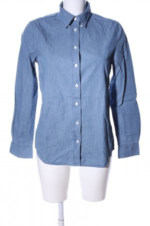Gant Langarmhemd blau meliert Business-Look