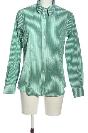 Gant Langarmhemd grün-weiß Streifenmuster Casual-Look