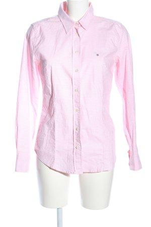 Gant Langarmhemd pink-weiß Karomuster Casual-Look