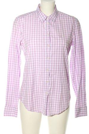 Gant Langarmhemd weiß-pink Karomuster Casual-Look