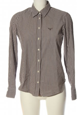Gant Langarmhemd braun-weiß Allover-Druck Business-Look