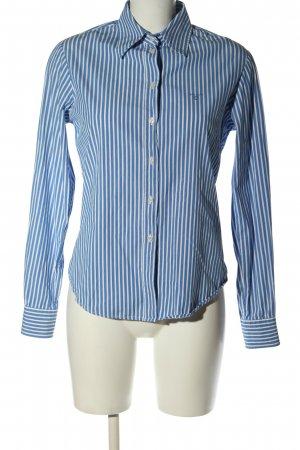 Gant Langarmhemd blau-weiß Allover-Druck Business-Look