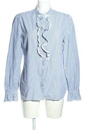 Gant Langarmhemd blau-weiß Streifenmuster Casual-Look