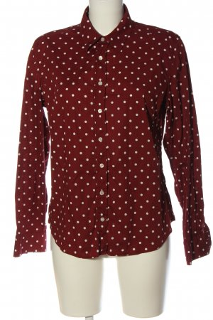 Gant Langarmhemd rot-weiß Allover-Druck Casual-Look