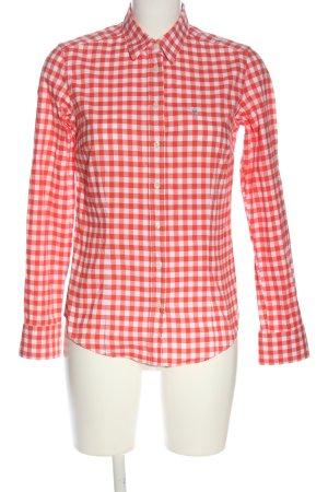 Gant Langarmhemd weiß-rot Allover-Druck Casual-Look