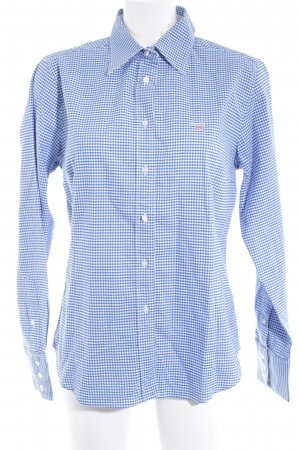 Gant Langarmhemd blau-weiß Karomuster Casual-Look