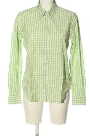 Gant Langarmhemd weiß-grün Allover-Druck Casual-Look