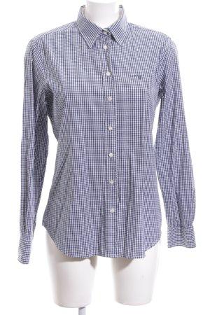 Gant Langarmhemd blau-weiß Karomuster Business-Look