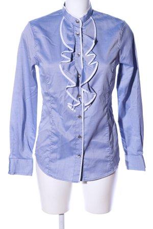 Gant Langarmhemd blau-weiß Webmuster Business-Look