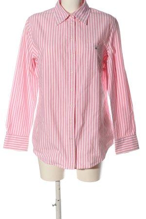 Gant Langarmhemd weiß-pink Allover-Druck Business-Look
