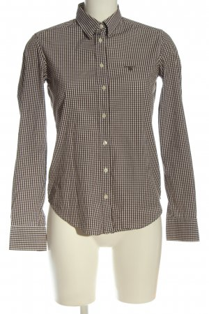 Gant Langarmhemd schwarz-weiß Karomuster Casual-Look