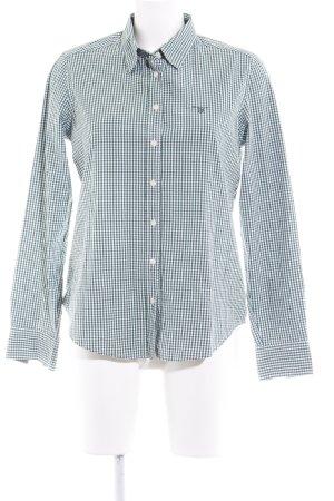 Gant Langarmhemd waldgrün-weiß Vichykaromuster klassischer Stil