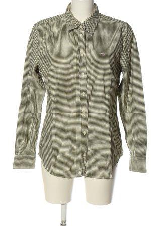 Gant Langarmhemd weiß-khaki Allover-Druck Casual-Look