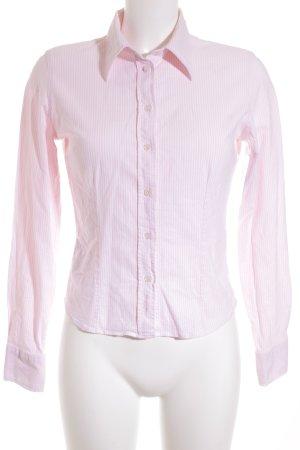 Gant Langarmhemd weiß-rosa Streifenmuster Casual-Look