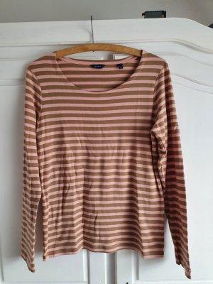 Gant Camisa de rayas marrón claro-rosa empolvado