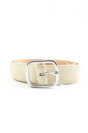 Gant Skórzany pasek w kolorze białej wełny W stylu biznesowym