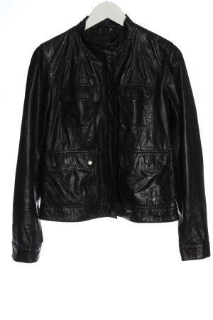 Gant Giacca in pelle nero stile casual