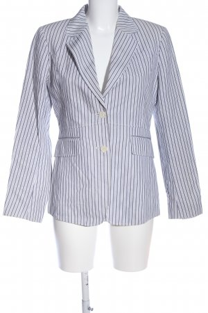 Gant Long-Blazer blau-weiß Allover-Druck Business-Look