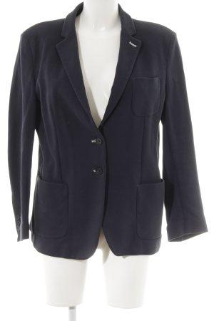 Gant Long-Blazer weiß-dunkelblau Streifenmuster Casual-Look