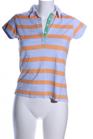 Gant Polo-Shirt blau-hellorange Streifenmuster Casual-Look