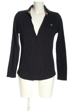 Gant Polo-Shirt schwarz sportlicher Stil