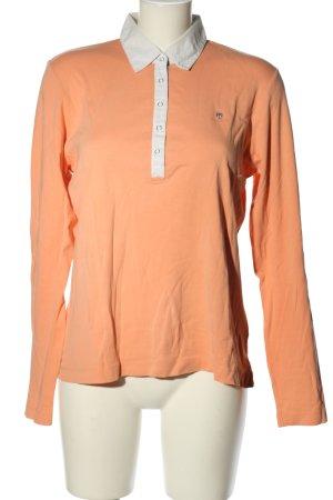 Gant Polo-Shirt hellorange-weiß Business-Look