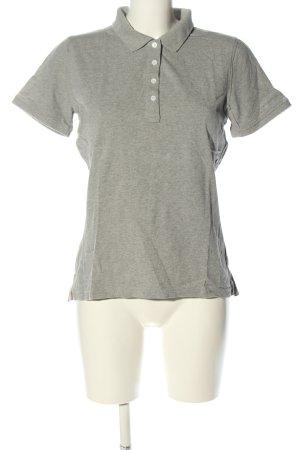 Gant Polo-Shirt hellgrau meliert Casual-Look
