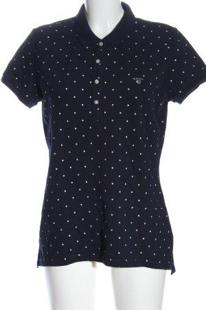 Gant Camiseta tipo polo azul estampado a lunares look casual