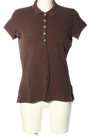 Gant Camiseta tipo polo marrón look casual