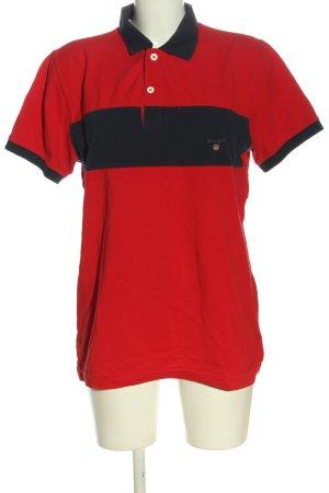 Gant Polo-Shirt rot-schwarz Casual-Look