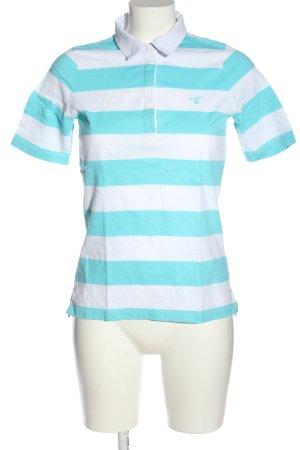 Gant Polo-Shirt türkis-weiß Streifenmuster Casual-Look