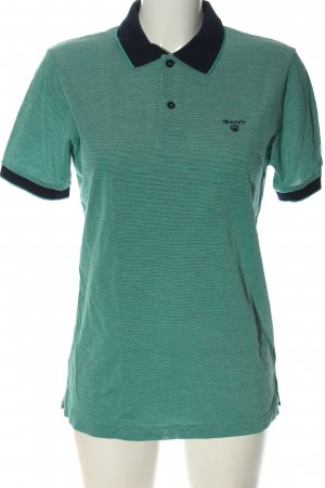 Gant Polo Shirt green embroidered lettering casual look