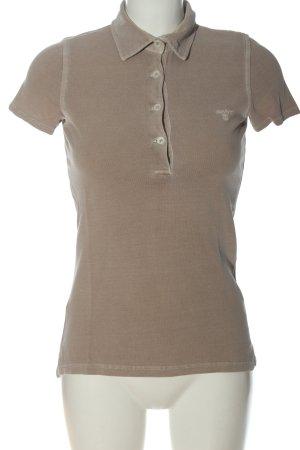 Gant Polo-Shirt braun Schriftzug gestickt Casual-Look