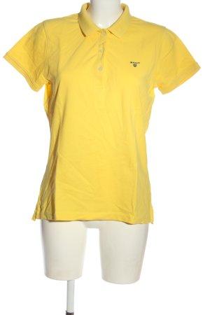 Gant Polo-Shirt blassgelb Casual-Look