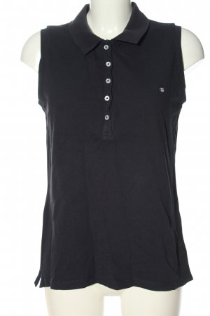 Gant Polo Top schwarz Casual-Look