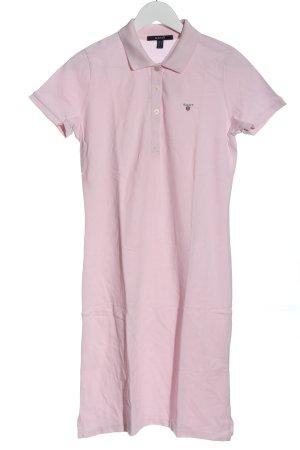 Gant Robe Polo rose lettrage brodé style décontracté