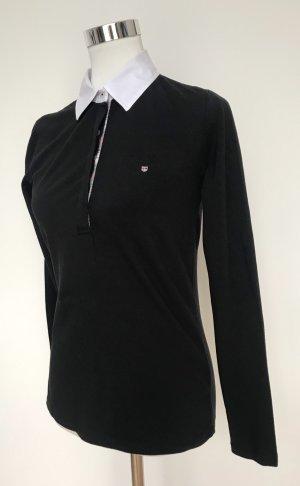 Gant Poloshirt, dunkelblau, langarm, Größe M