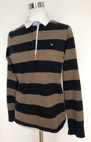 Gant Poloshirt, langarm, gestreift, Größe M