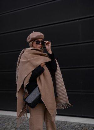 Gant Poncho braun-creme Karomuster Casual-Look