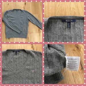 Gant Kabeltrui grijs-lichtgrijs Wol