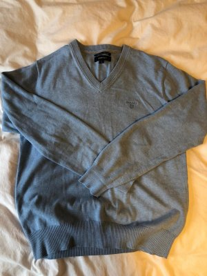 Gant Jersey con cuello de pico azul celeste