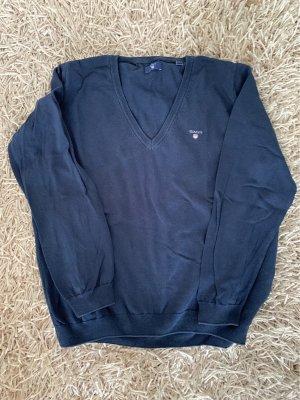 Gant Jersey con cuello de pico azul oscuro