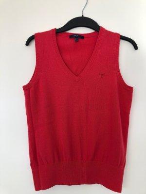 Gant Cardigan en maille fine rouge clair coton