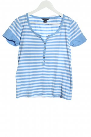 Gant T-shirt rayé bleu-blanc motif rayé style décontracté